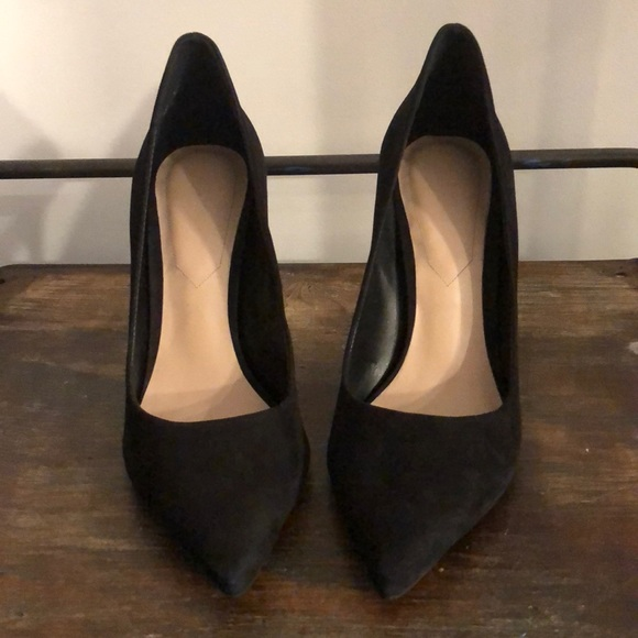 75 Aldo Cassedy Black Nubuck High Heels